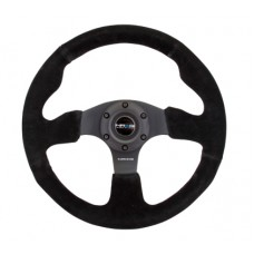 NRG Reinforced Steering Wheel (320mm) Suede w/Black Stitch