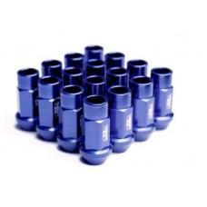 BLOX Racing Street Series Forged Lug Nuts - Blue 12 x 1.5mm - Set of 20